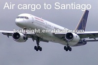 Air cargo from Shanghai, China to Santiago de Chile, Chile