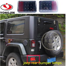 Car parts accessories led rear bumper fog lights for jeep wrangler SUV ATV truck automobiles & motorcycles