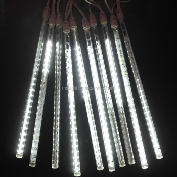 LED meteor shower rain tube lights, Christmas tree LED shower lights