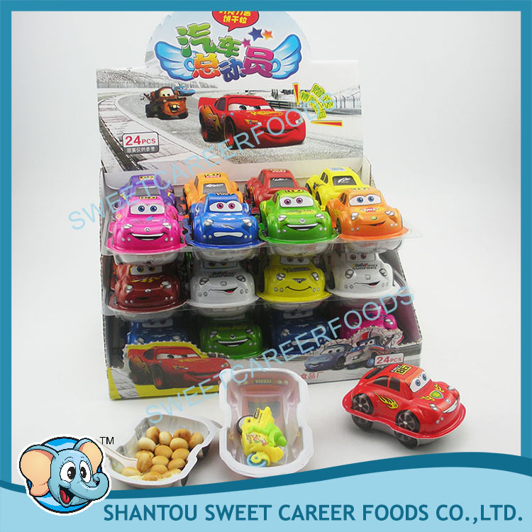 car shape surprise chocolate biscuit with toy