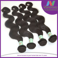 Factory wholesale 6A grade unprocessed natural color body wave cambodian human hair virgin hair everywhere