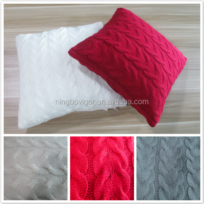 100% Acrylic Cable Knitted Cushion, Cushion Pillow, Sofa Cushion
