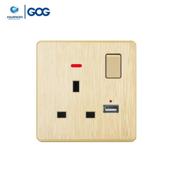 Universal europe dc jack socket power usb wall board charger