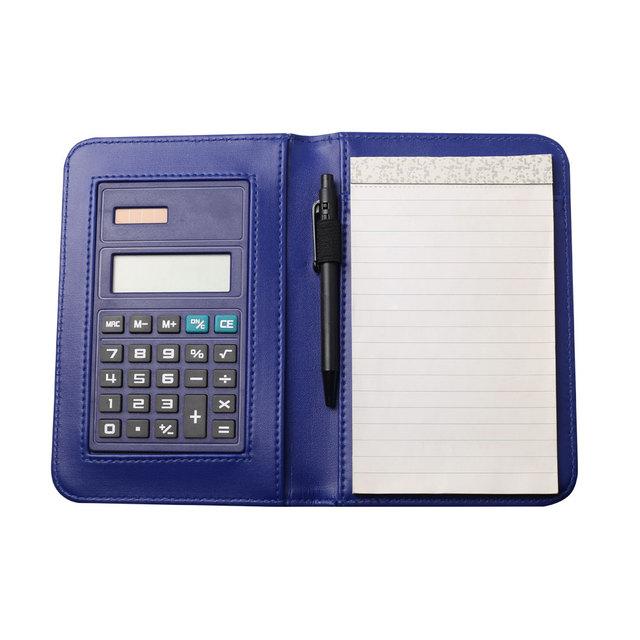 8 Digits Solar Power Business Notebook Calculator with Ballpen