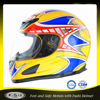 China manufactuer yellow ABS full face visor motor cycle helmet