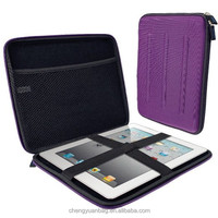 Purple EVA Travel Hard Case Cover Sleeve for i Pad 2 3 4