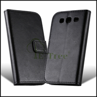 Premium Wallet Leather Mobile Phone Stand Case Cover for Samsung Galaxy S3