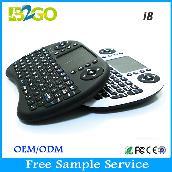 Top Selling 2.4g Wireless Mini Keyboard 92 Keys Mini Bluetooth Keyboard i8 Remote