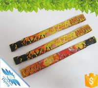 2016 Custom Festival Woven Fabric Wristband for Events