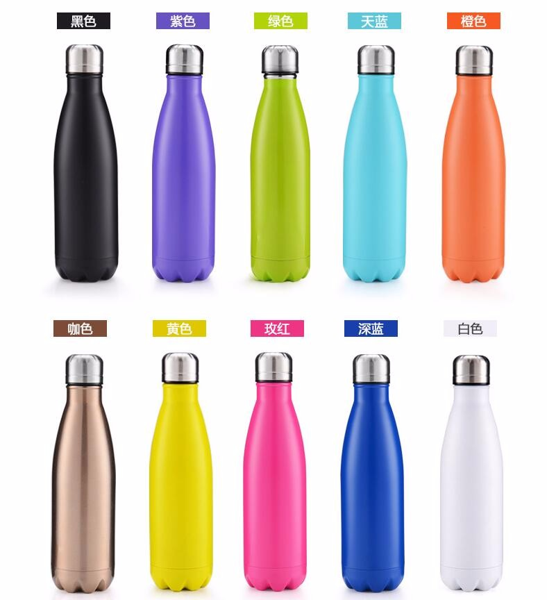 Double Wall Vacuum Insulated 18/8 Stainless Steel Water Bottle