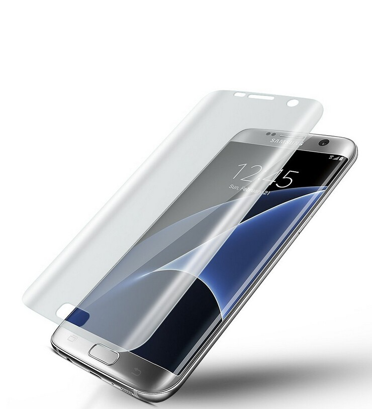 3D curved full cover clear tempered glass screen protector for Samsung S7 S7 edge