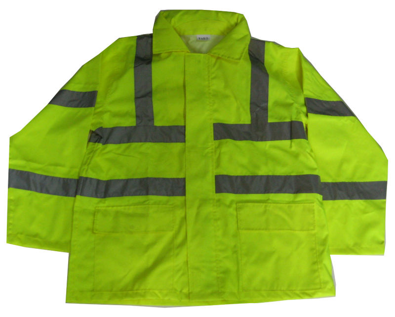 reflective fire retardant rain coat