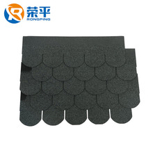 Colorful Cheap Round flat clay fish scale asphalt shingle roof tiles