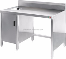 Stainless steel waste collector work table/bar work station