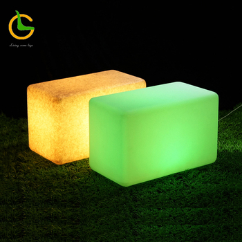 Plastic rechargeable illuminated seat light waterproof RGB led cube
