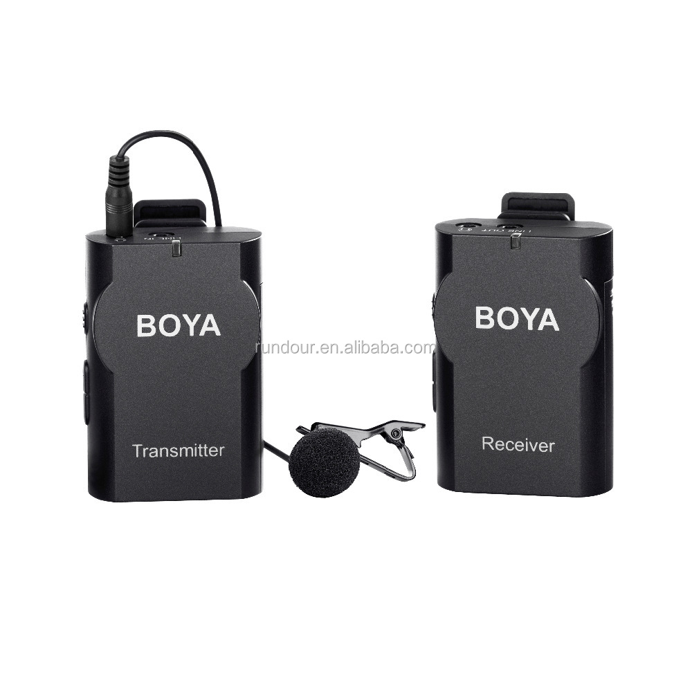 BOYA BY-WM4 Wireless Lavalier Microphone system for Canon Nikon for Sony Panasonic