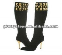 Pretty Steps china wholesale high quality latest fashion 2013 high heels long leather boots for women