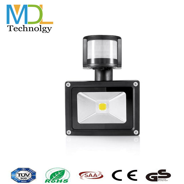 Shenzhen factory directly cheap 10w square flood light led with PIR
