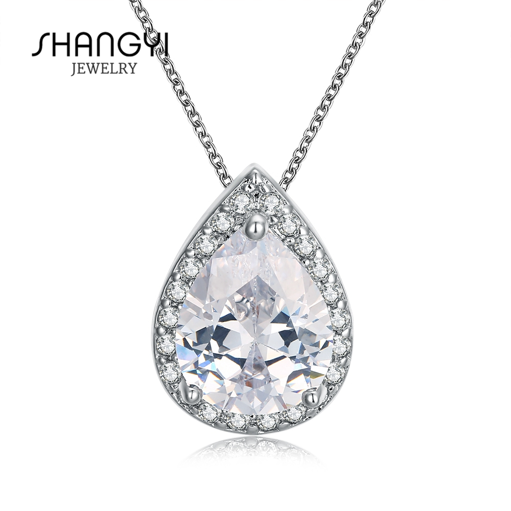 Shangyi Stock Rhinestone Crystal Silver Necklace Chain