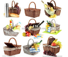 Top quality Cheap empty picnic baskets wholesale /wicker picnic baskets wholesale