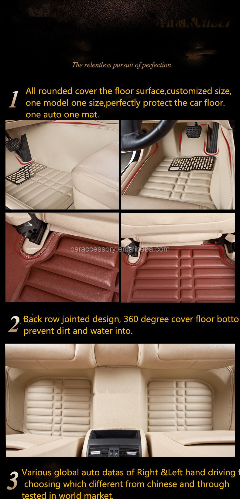 3D 5D Car Floor Mats Carpet for Sorento