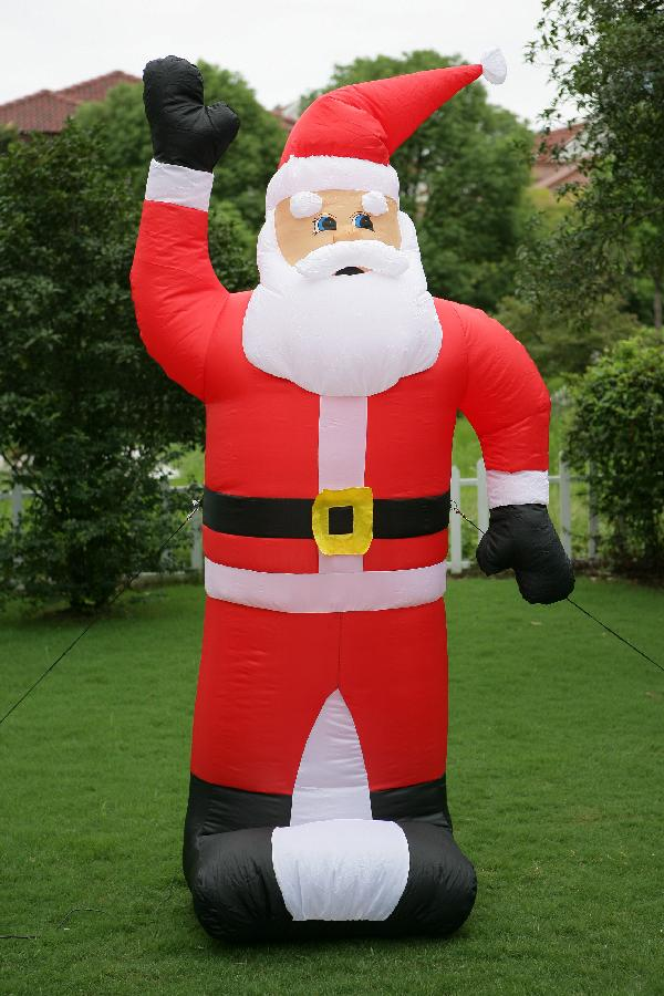 Amazing Inflatable Holiday Decorations Part - 5: 25ft Christmas Inflatable  Santa For Outdoor/inflatable