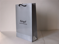 Silver paper Luxury paper shopping bags