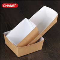 Wholesale High Quality Take Away Kraft Food Paper Boat Tray