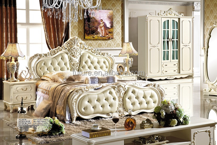 Luxury European Victorian Bedroom Furniture Set