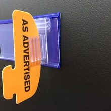 PVC Extruded Shelf Talkers for In-store Promotion/ PVC Wobbler Dangler Shelf Talker
