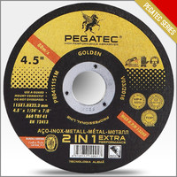 "PEGATEC 115X1X22mm 4.5"" Cut off Wheel - Metal & Stainless Steel Thin Cutting Wheels EN12413"
