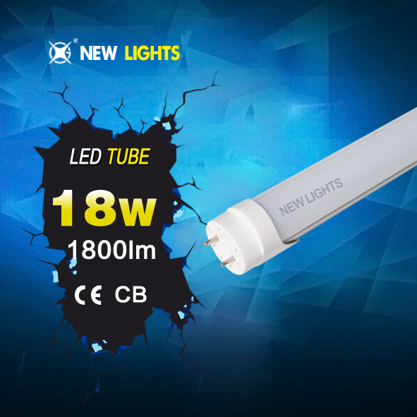Fashionable 100lm/w 3 years warranty smd 2835 IC driver 85-265v/ac 1200mm t8 led tube housing