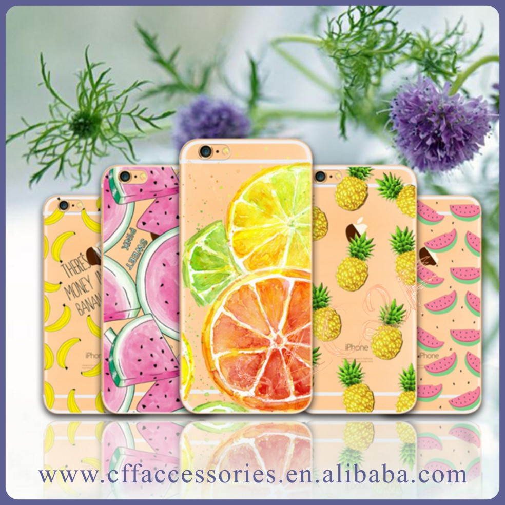 Slice of Summer Watermelon Fruit Soft TPU Phone Case Cover For iPhone5/5s/6/6+