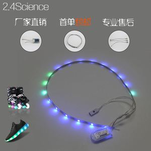 Hot!!! 7 Colour Led Light shoes strip Women Casual Luminous Tenis Con Luz Schoenen Met Licht Glowing Light Up Purple Pu Usb Shoe