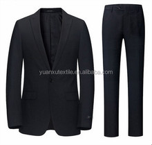 Hot selling business formal suits with polyester wool blend fabric