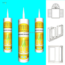 jy810 fast-drying acidic silicone sealant for doors windows glass assembling