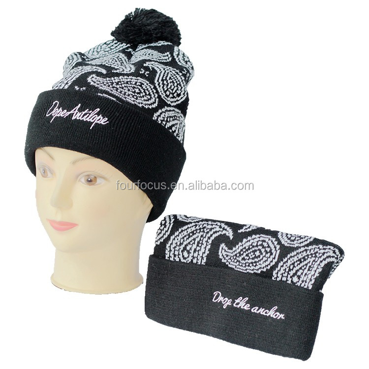 fashion hot selling winter kids knitted hat/knitted sport kids jacquard knitted beanie