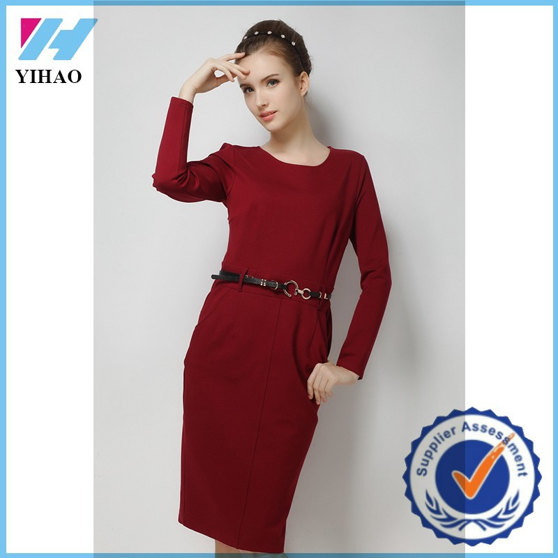 2017 Dongguan clothing wholesale ladies formal office wear dresses for women
