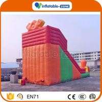 Customized inflatable slides wet dry bouncer combo animal inflatable slide