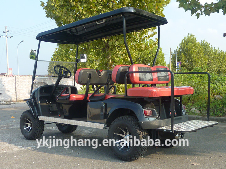 6 passenger off road gasoline/ petrol golf carts with great price used for beach/farm