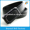 Beyond 35mm Wide Black Stylish Leather Slide Belt and Ratchet Buckle for Men
