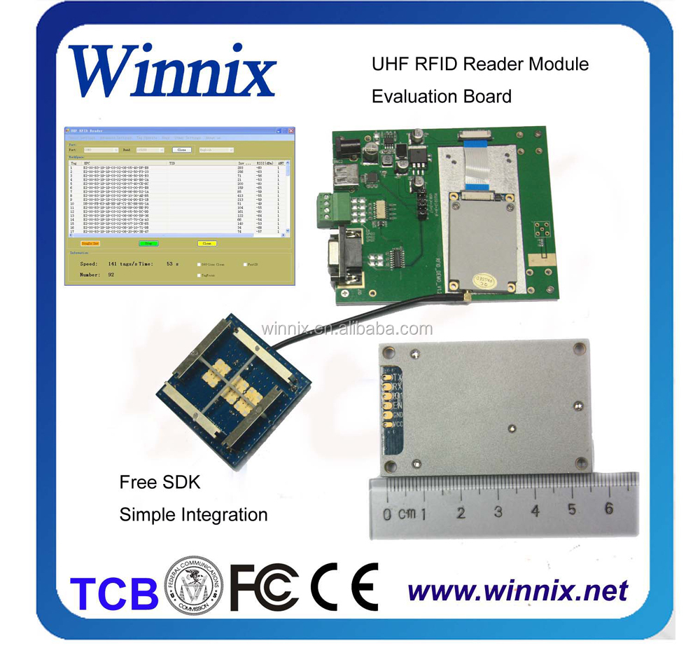 15meters long distance uhf epc c1 gen2 module with anti-collision, DRM, and advanced anti-jamming capabilities