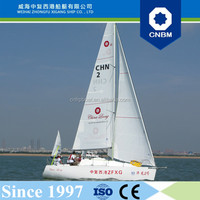 CE Certification and Fiberglass Hull Material 7.99m 26ft Monohull Sailboat for Sale