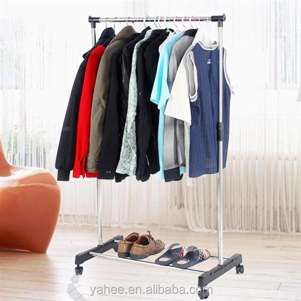Rolling Laundry Garment Hanging Storage Clothes Rack