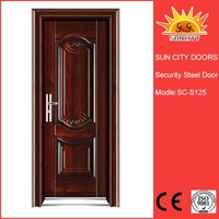 SC-S125 Wholesale Steel Security Door Stainless for Sales, China Factory Main Safety Door Design with Grill