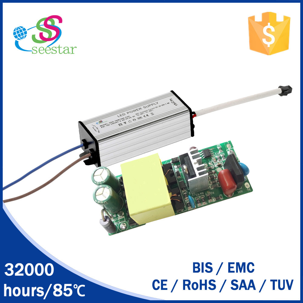 30w 900ma 50w 1500ma bis approval led street light driver with 3 years warranty power and driver