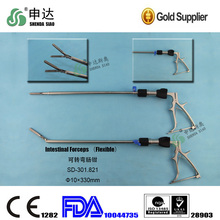 modern hospital laparoscopic grasper advanced flexible intestinal forceps