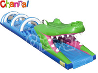 water slip crocodile airtech inflatable water slip n slide