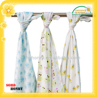 Wholesale 100% Cotton Muslin Fabric Swaddle Blanket Baby Care Products