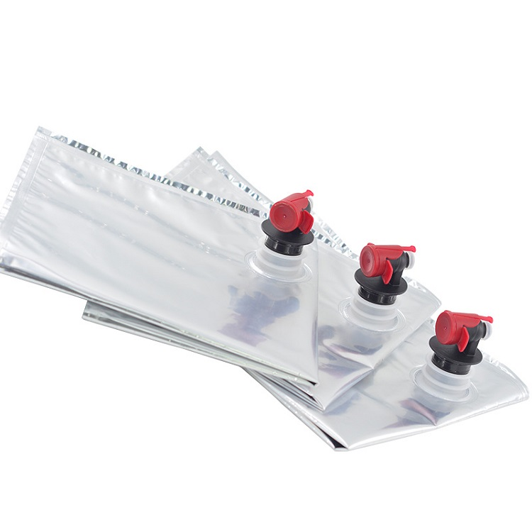 Aluminum foil oil wine bag in box with spout tap for liquid packaging